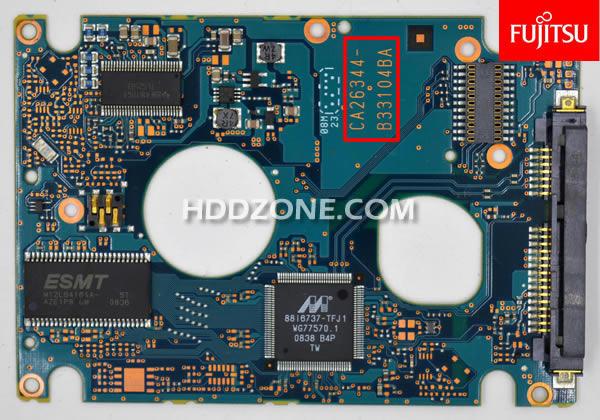 Ganti papan sirkuit hard drive Fujitsu