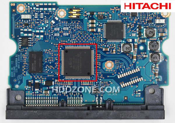 Ganti papan sirkuit hard drive Hitachi