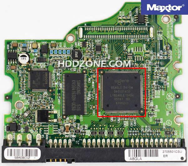 Ganti papan sirkuit hard drive Maxtor