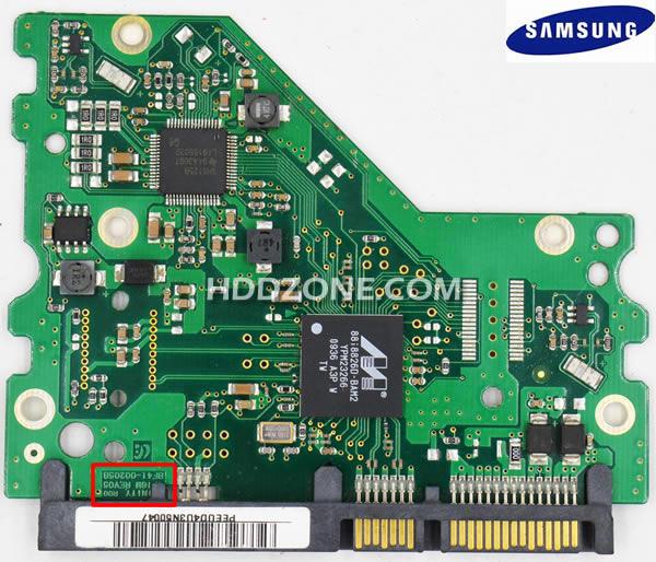 Ganti papan sirkuit hard drive Samsung