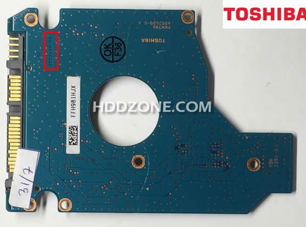 Ganti papan sirkuit hard drive Toshiba